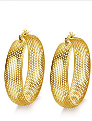 women Alloy gold  Hoop Earrings