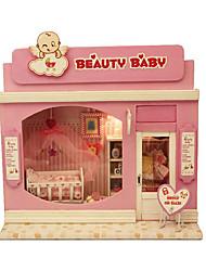 красивый ребенок поделки кабина с подсветкой собран вручную модель Чи весело дом серии европы магазин
