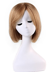Sweet Bob Style Short Syraight Remy Human Hair Hand Tied -Top Woman's Emmor Wigs