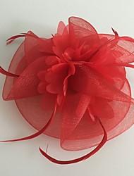 Femme Plume Tulle Filet Casque-Mariage Occasion spéciale Coiffure 1 Pièce