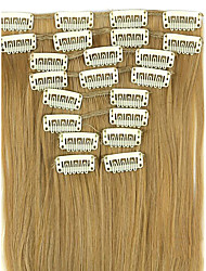 Wig Linen Brown 62CM High Temperature Wire Length Straight Hair Synthetic Hair Extension