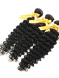 """3pcs / lot 7a profunda onda malaio 8-30 """"barato malaio onda cabelo virgem profunda não transformados tecer fio de cabelo humano"""