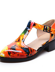 Women's Shoes Customized Materials Chunky Heel Heels Heels Party & Evening /Casual Black / Multi-color / Burgundy
