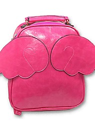 Women PU Casual Backpack Pink / Green / Yellow / Fuchsia