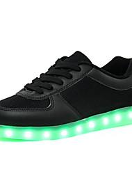Scarpe Donna-Sneakers alla moda-Tempo libero / Casual / Sportivo-Punta arrotondata-Piatto-Tulle-Nero / Bianco