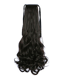 Curly Brown Black Synthetic Bandage Type Pear Hair Wig Ponytail
