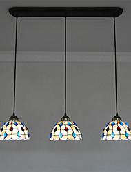 8 inch 3-lights Retro Tiffany Pendant Lights Shell Shade Living Room Dining Room light Fixture