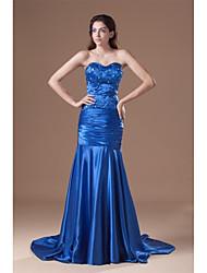 Formal Evening Dress Trumpet/Mermaid Sweetheart Court Train Stretch Satin