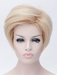 europe et aux états-unis les nouvelles courte perruque blonde 3 pouces de perruques frisées naturel peu profonds