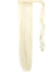 белый 60 см синтетический высокая температура проволоки парик прямые волосы конский хвост цвет 60/613