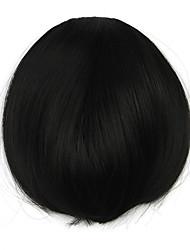 Kinky Curly Black Retardant Human Hair Weaves Chignons 4