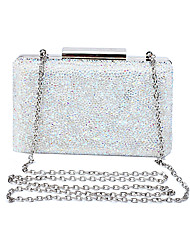 L.WEST Women's Crystal Glass Drill Evening Bag