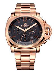MEGIR® Men's  Steel Band 30M Water Resistant Dress Watch Jewelry Wrist Watch Cool Watch Unique Watch