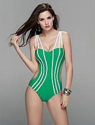 Mulheres Biquíni / Maiô Sólido Nadador Nylon / Elastano Mulheres