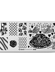 BlueZOO Rectangle Printing Nail Art Stamping (C-032)
