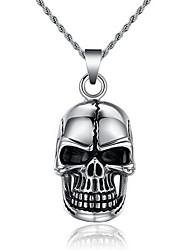 Men's Pendant Necklaces Pendants Statement Necklaces Skull / Skeleton Titanium Steel Punk Statement Jewelry Fashion Personalized Jewelry