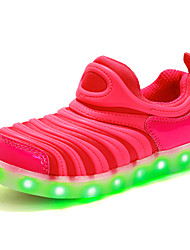 LED'S Shoes Girls' Shoes Outdoor / Casual Comfort / Closed Toe Synthetic / Tulle Fashion Sneakers Black / Blue / Pink
