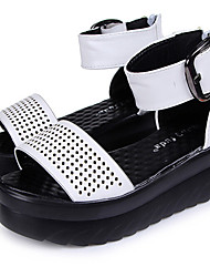 Women's Shoes Wedge Heel Open Toe Sandals Dress Black/White