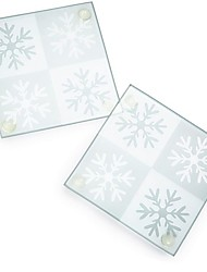 Winter Snowflake Glass Beer Coasters Wedding Party Decoration (1pcs)