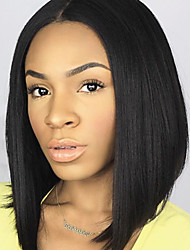 "HOT!! Brazilian Virgin Hair Full Lace Wigs Human Hair Wigs for Black Women 8""-30""Bob Straight Lace Front Wig"