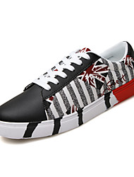 Autumn New Arrival Fashion Trend Men's Print Canvas Shoes for Casual Man's Lace-up Skateboarding Shoes