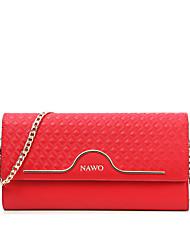 NAWO Women-Casual / Office & Career-Cowhide-Shoulder Bag-Red-N154101