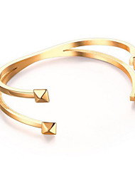 Women's Fashion Cross Stainless Steel Cuff Bracelet