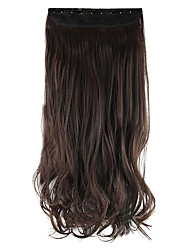 Length Chocolate color 60CM High Hemperature Wire Wig Hair Extension Synthetic Hair