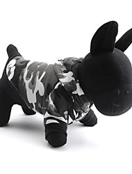Gatos / Perros Saco y Capucha / Camiseta Gris Primavera/Otoño camuflaje Moda, Dog Clothes / Dog Clothing-Pething®