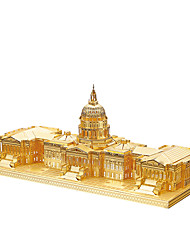Jigsaw Puzzles 3D Puzzles / Metal Puzzles Building Blocks DIY Toys Famous buildings Metal Silver / Gold Model & Building Toy