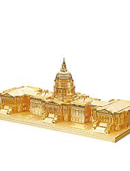 Пазлы 3D пазлы / Металлические пазлы Строительные блоки DIY игрушки известные здания Металл Розовый / Зеленый Модели и конструкторы