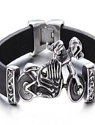 Lederen armbanden 1 stuks,Zwart Armbanden Leder Sieraden Heren