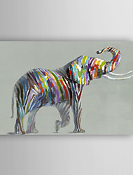 Hand Painted Oil Painting Animal Lovely elephant with Stretched Frame 7 Wall Arts®