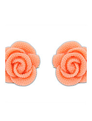 Han edition lovely lady rose flowers stud earrings