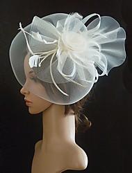 Women's Tulle / Fabric Headpiece-Wedding / Special Occasion Birdal Retro Fascinators 1 Piece