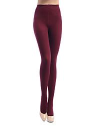 Women's  280D vertical stripes skinny legs pantyhose