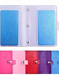 20slots Rectangular Nail Art Stamping Plates Empty Template Case Holder Organizer for 6cm*12cm Stencil Album Storage