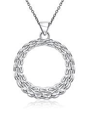 Женский Ожерелья-бархатки Ожерелья с подвесками Заявление ожерелья Стерлинговое серебро Простой стиль Мода Белый БижутерияСвадьба Для