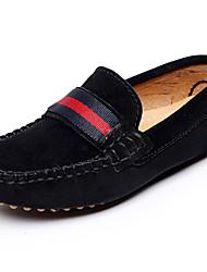 Garçon-Extérieure Décontracté Sport-Noir Rouge Gris-Talon Plat-Moccasin-Chaussures Bateau-Cuir