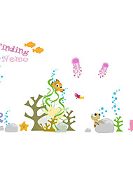 Wall Stickers Wall Decals Style Little Fish in The Sea PVC Wall Stickers