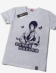 Inspiriert von Black Butler Sebastian Michaelis Anime Cosplay Kostüme Cosplay Tops / Bottoms Druck Gelb Kurze Ärmel T-Shirt-Ärmel