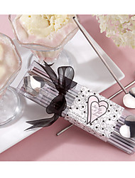 Silver Heart Straw Stirrers, Icecream Scoop Wedding Favors, Bridal Shower Favors