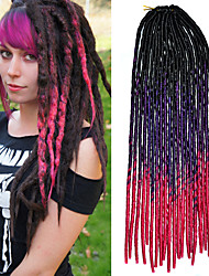 20inch Kanekalon Senegalese Braids Soft Dread Lock Synthetic Braiding Hair Ombre Black Violet Pink