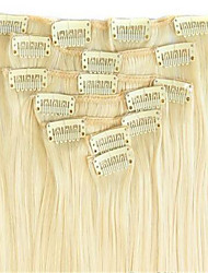"16""-28"" Clips In Human Hair Extension 7pcs/lot Hair Brazilian Virgin Hair Straight Clip In Extension"