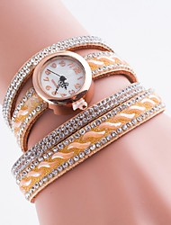 Women's Fashion Watch Bracelet Watch Quartz Casual Watch Imitation Diamond PU Band Bohemian Multi-Colored Brand