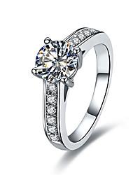 Кольца Бижутерия Стерлинговое серебро / Платиновое покрытие Женский Массивные кольца 1шт