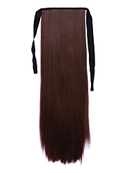 Brown Length 60CM Synthetic Bind Type Long Straight Hair Wig Horsetail(Color 33J)