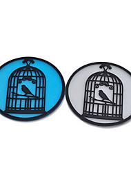 Retro Birdcage Placemat Silicone Tableware Cup Pad Coaster Insulation Mat(Random Color)