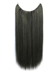парик черный 55см синтетический высокая температура провода прямые волосы кусок цвет 2/613
