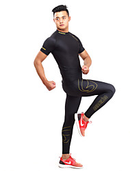 Getmoving® Women's Men's Short Sleeve Running Tracksuit Base Layers Compression Clothing Leggings Clothing Sets/Suits Tops Bottoms